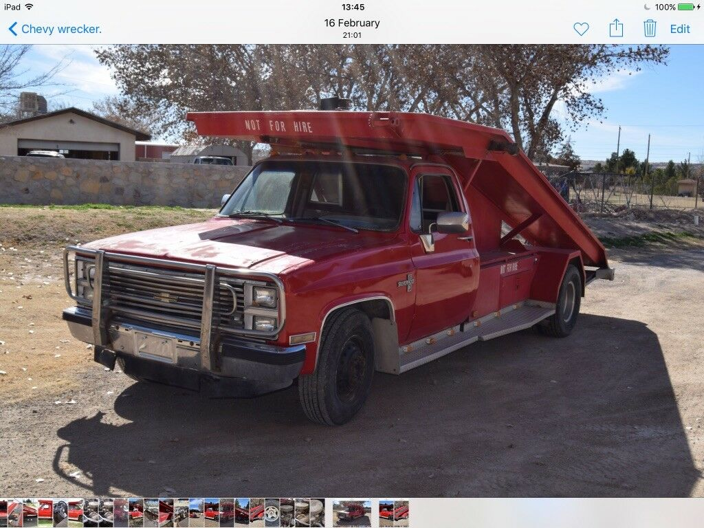 Chevrolet c30 ramp recovery tow truck v8 454 big block for West chevrolet airport motor mile