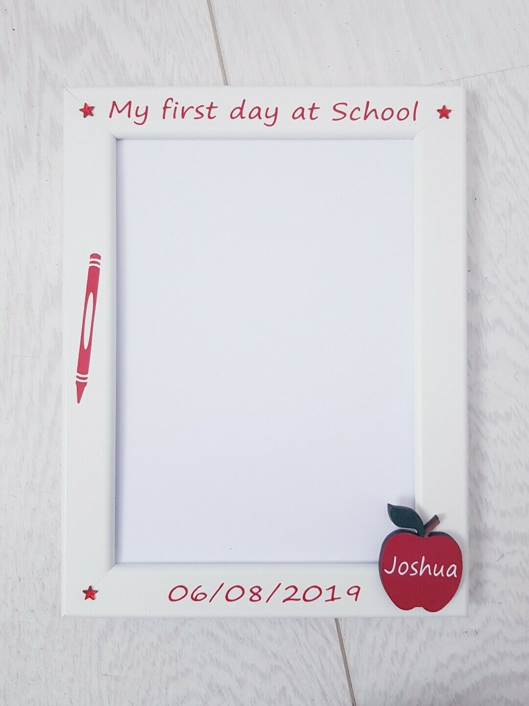PERSONALISED MY FIRST day at Nursery / School 5x7\