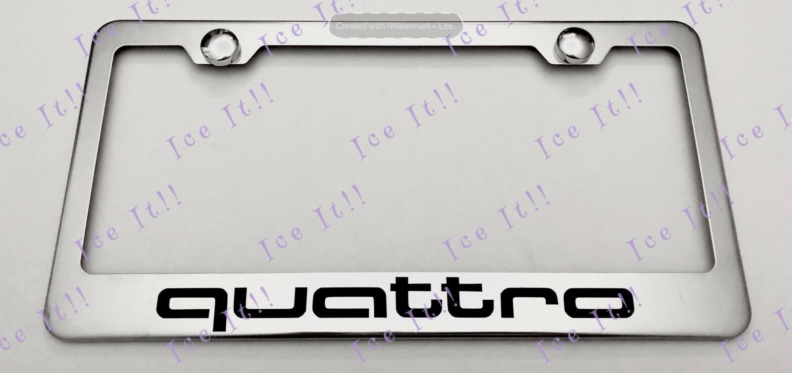 QUATTRO AUDI STAINLESS Steel License Plate Frame Rust Free W Bolt - Audi license plate frame