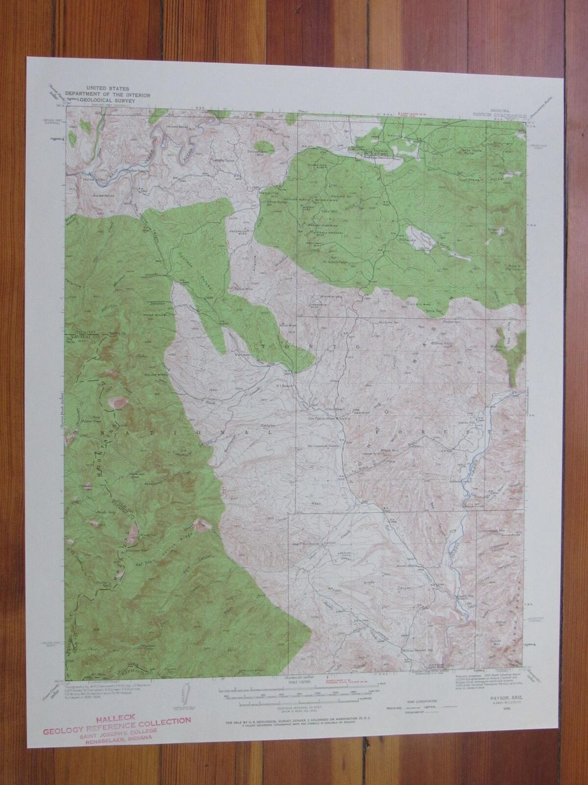 Payson arizona 1958 original vintage usgs topo map 3495 picclick payson arizona 1958 original vintage usgs topo map 1 of 1only 1 available publicscrutiny Gallery