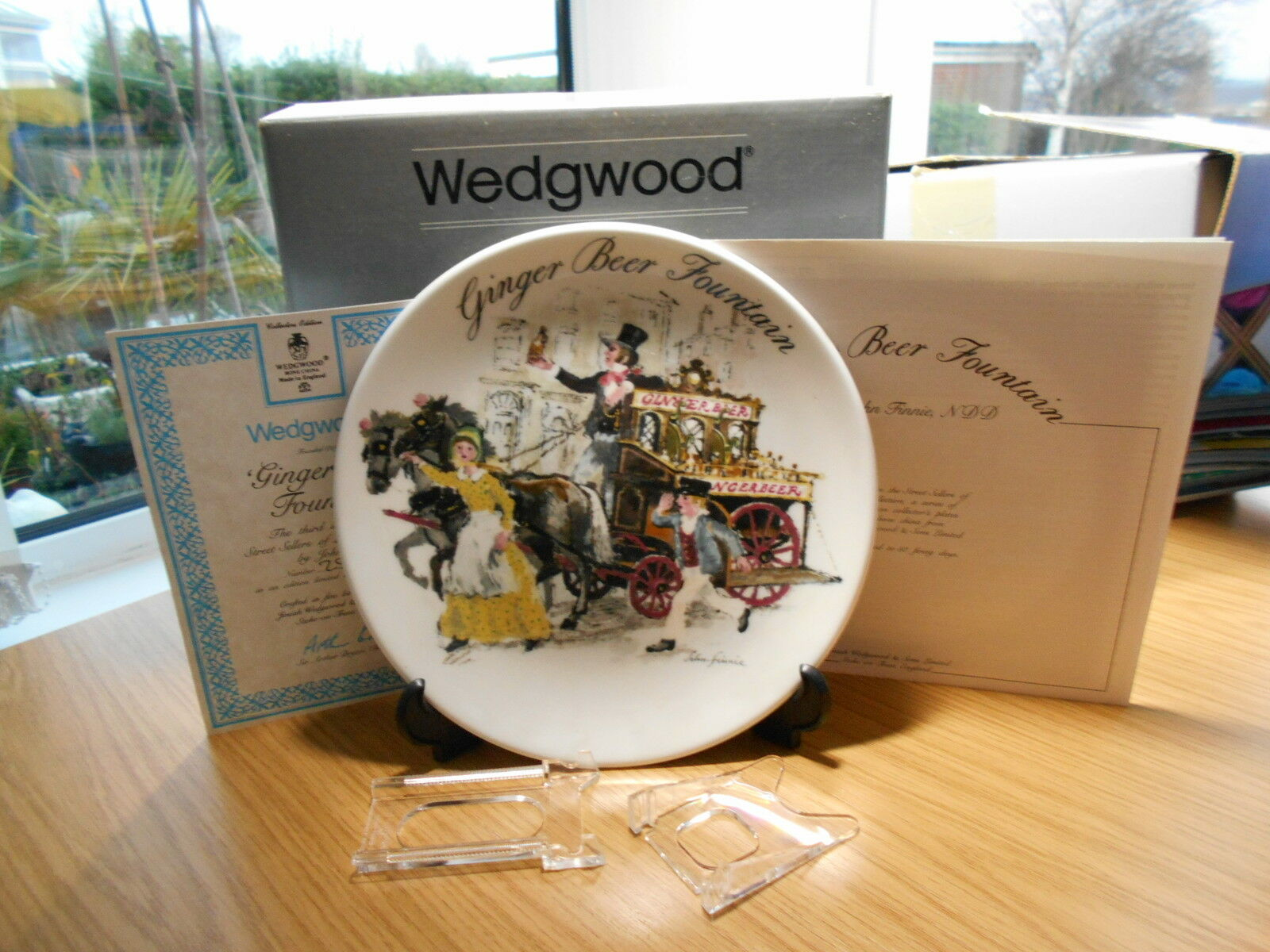 Wedgwood China Plate Ginger Beer Fountain Boxed Certificate Street