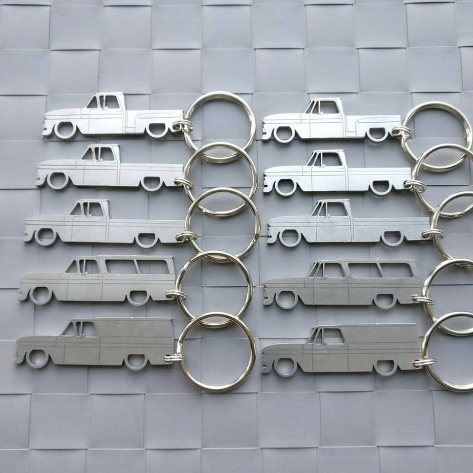 Chevrolet Gmc Truck Stepside Fleetside C10 Keychains 1960 1966 Chevy 1 Of 2 See More