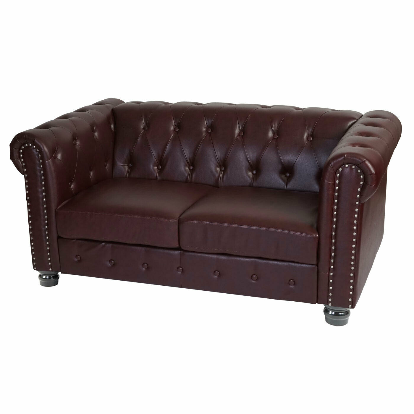 LUXUS 2ER SOFA Loungesofa Couch Chesterfield Edinburgh, runde Füße ...