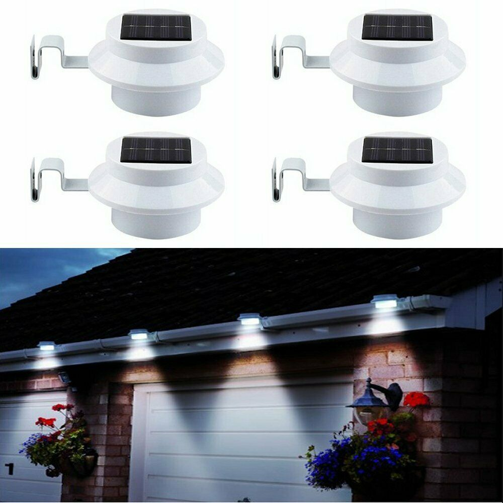 4x led solar powered light outdoor garden security wall fence gutter 4x led solar powered light outdoor garden security wall fence gutter yard lights 1 of 7free shipping see more aloadofball Choice Image