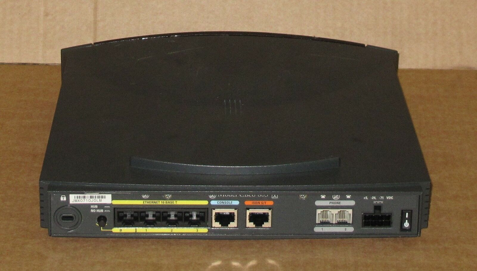 CISCO 803 4-PORT ISDN Ethernet Wired Network Router NO POWER SUPPLY ...