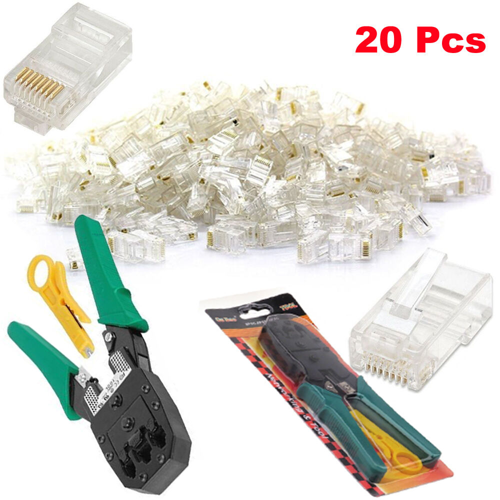 ethernet netzwerk set rj45 rj11 cat5e cat6 kabel crimpen striper