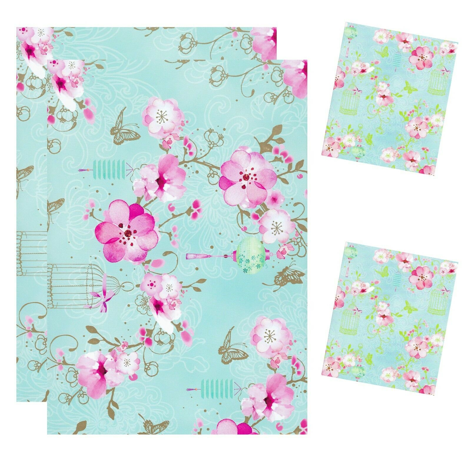 Simon Elvin 2 Sheets Gift Wrapping Paper 2 Tags 50cm X 70cm Jade