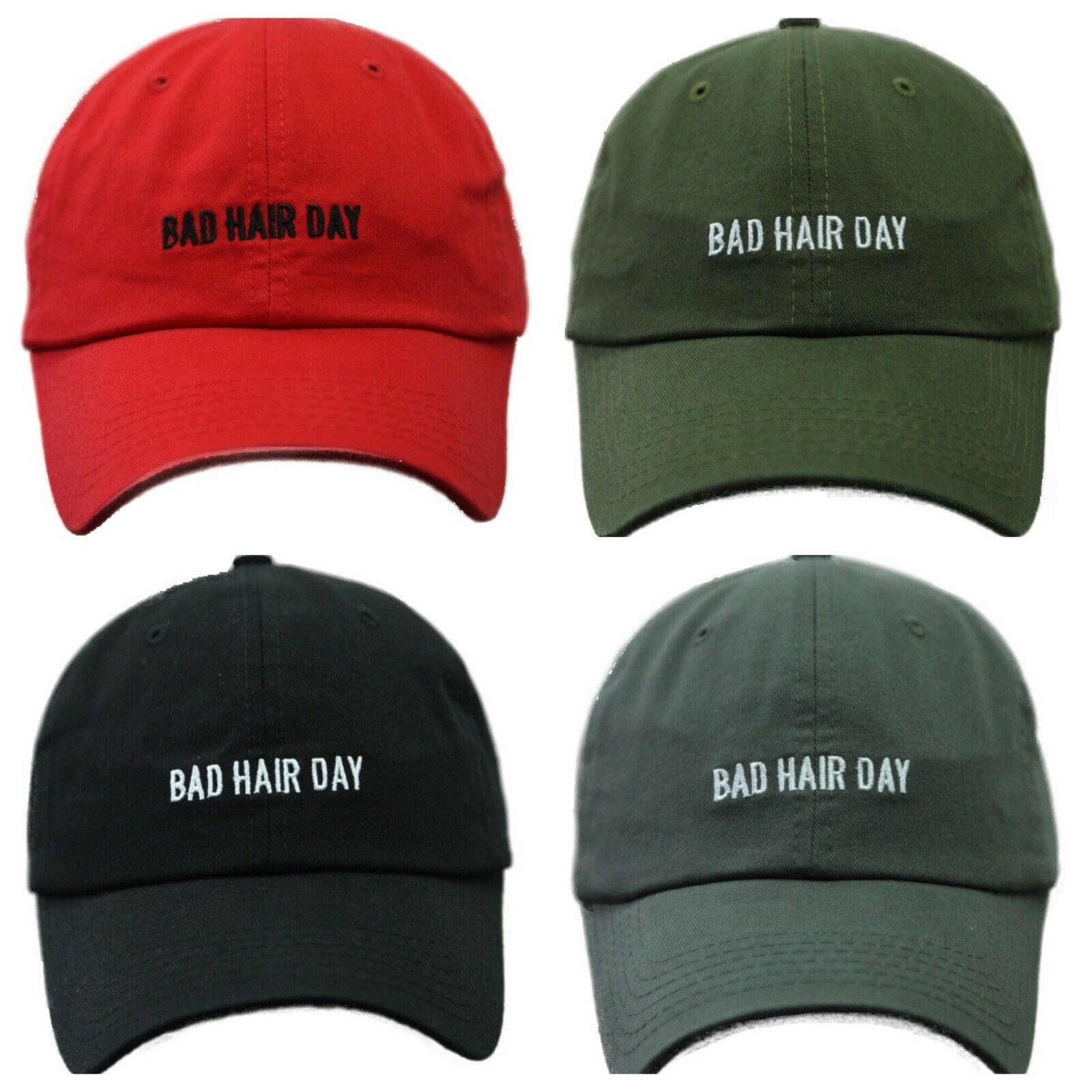 445e856e Bad Hair Day Dad Hat Plain Baseball Cap Unconstructed Fashion Casual Cotton  Caps 1 of 5FREE Shipping ...