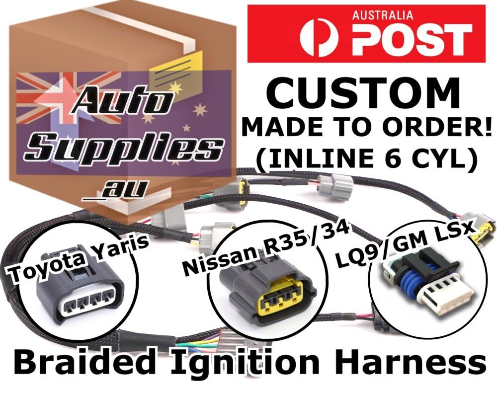 Custom Ignition Coil Harness Wiring Loom Diy R35 Yaris Lq9 Ls Rb Jz 5 9 1 Of 9free Shipping
