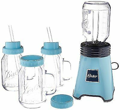 OSTER BALL PERSONAL Blender, Blue with Bonus Blending Cup & 4 ...