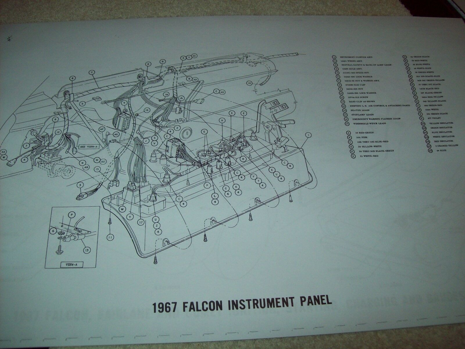 1967 Ford Fairlane Wiring Diagram 11x17 17 Pages Gt 500 Xl Club 1952 Willys Wagon 1 Of 9only Available