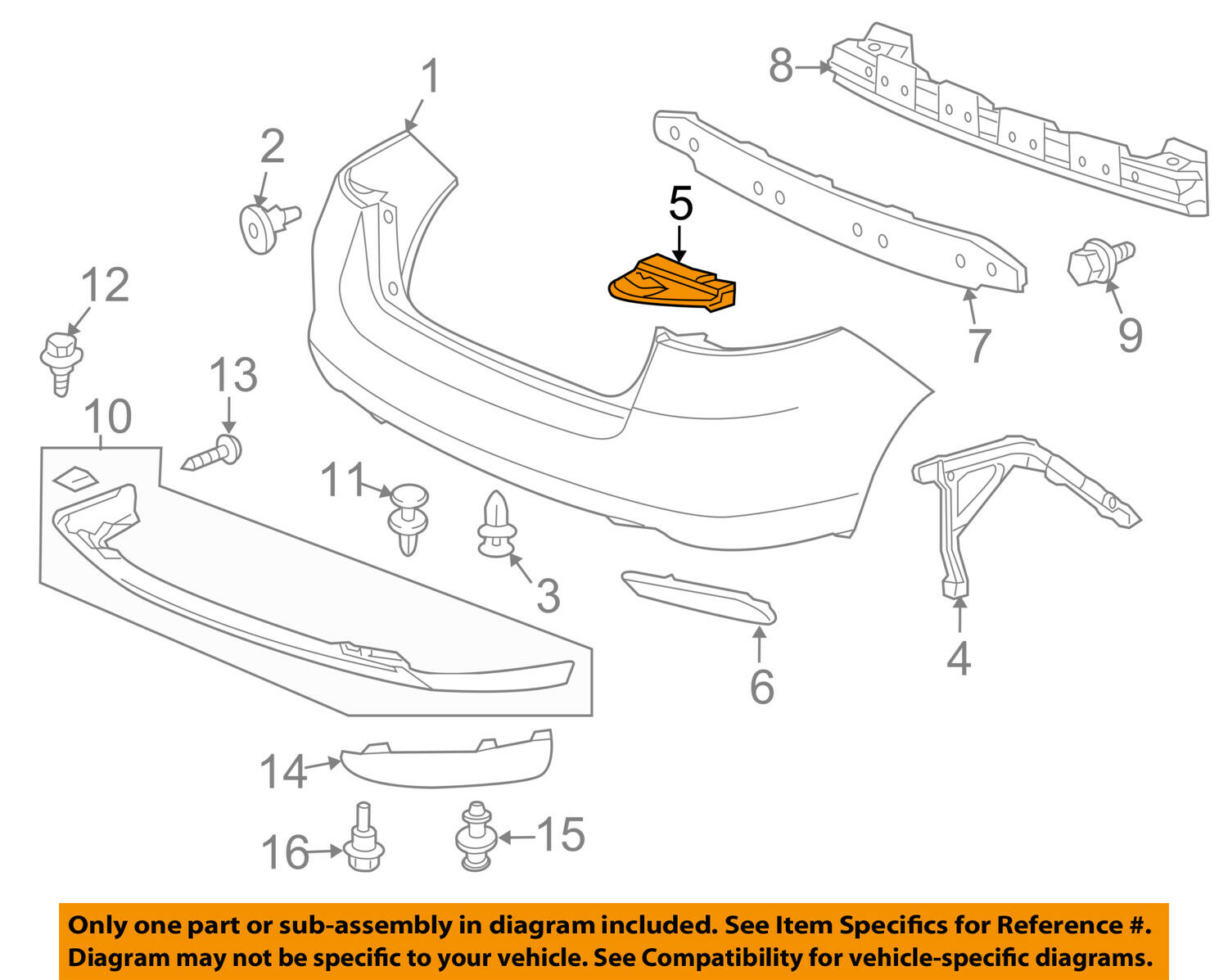Honda Oem 10 14 Insight Rear Bumper Upper Retainer Right 71503tm8a00 2011 Engine Diagram 1 Of 2only 3 Available