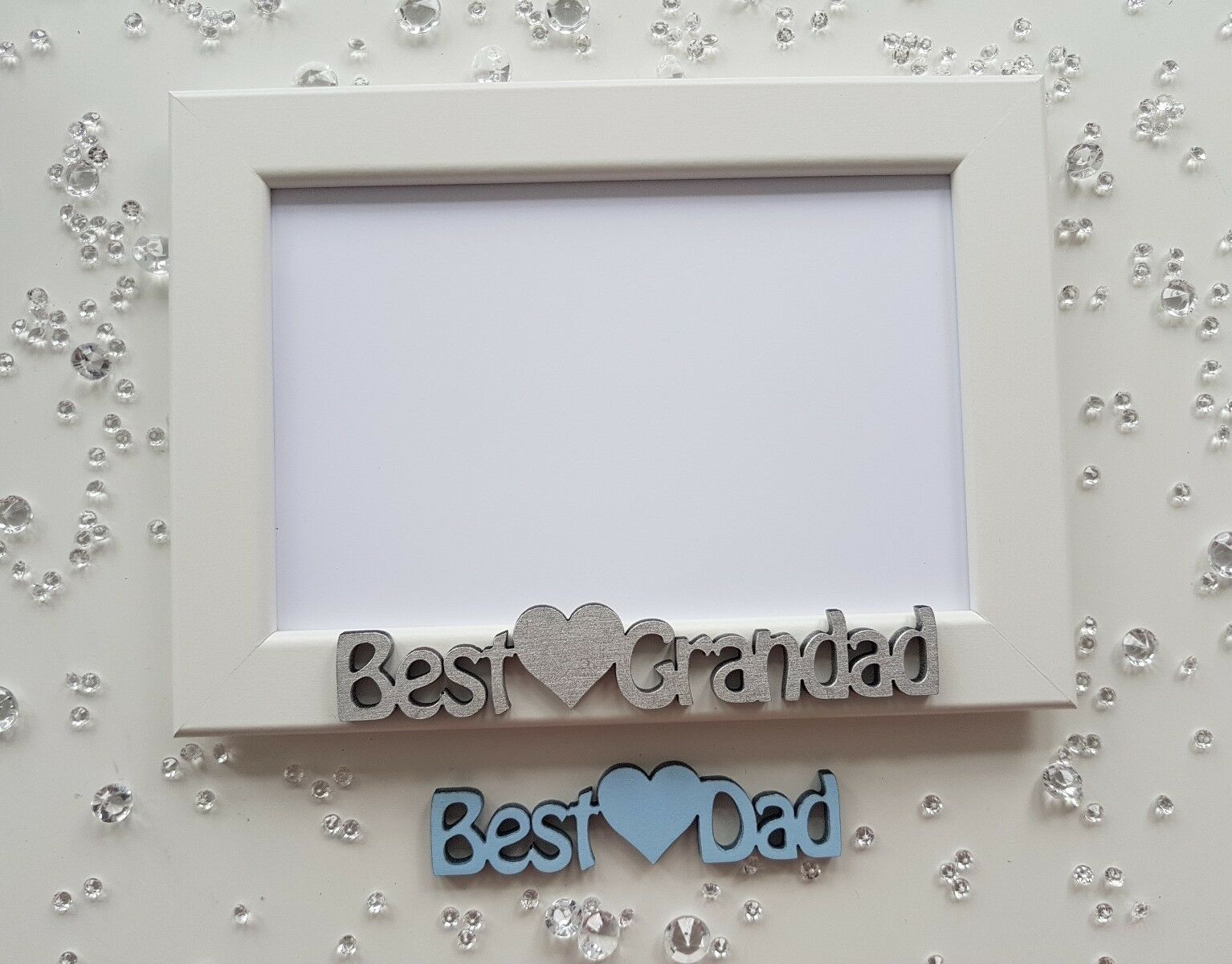 CHRISTMAS BIRTHDAY PHOTO Frame gift personalised Best Dad Daddy ...