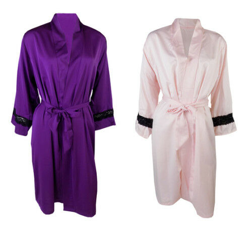 M&S MARKS & Spencers SATIN gown for WOMEN dressing gown night gown ...
