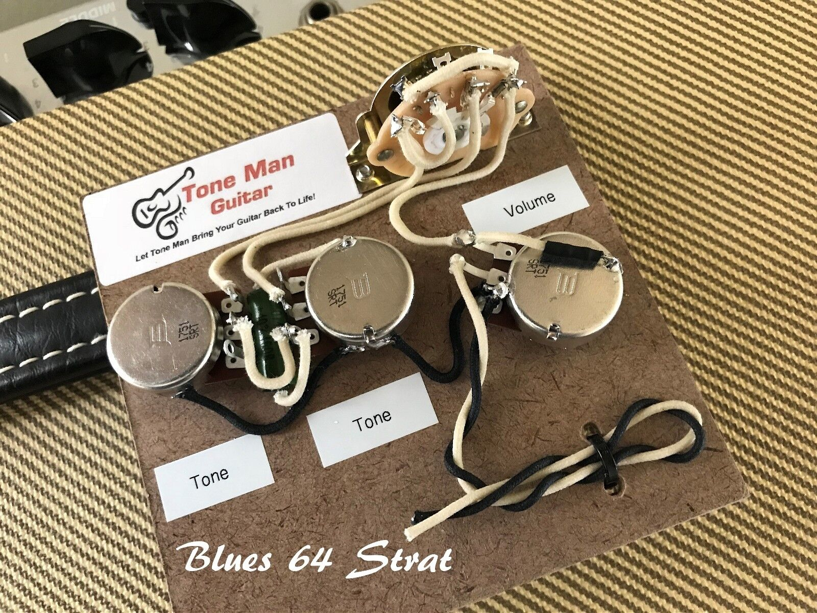 The Blues 64 Sound Strat Prewired Wiring Kit For Fender Stratocaster Pre Wired Les Paul Harness 1 Of 7free Shipping See More
