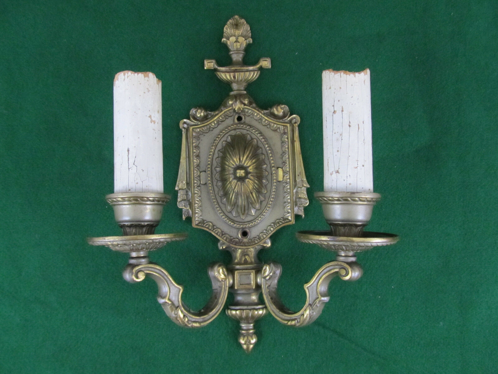 Antique Brass Bronze Sconce Wall Light Decorative Swags Acanthus