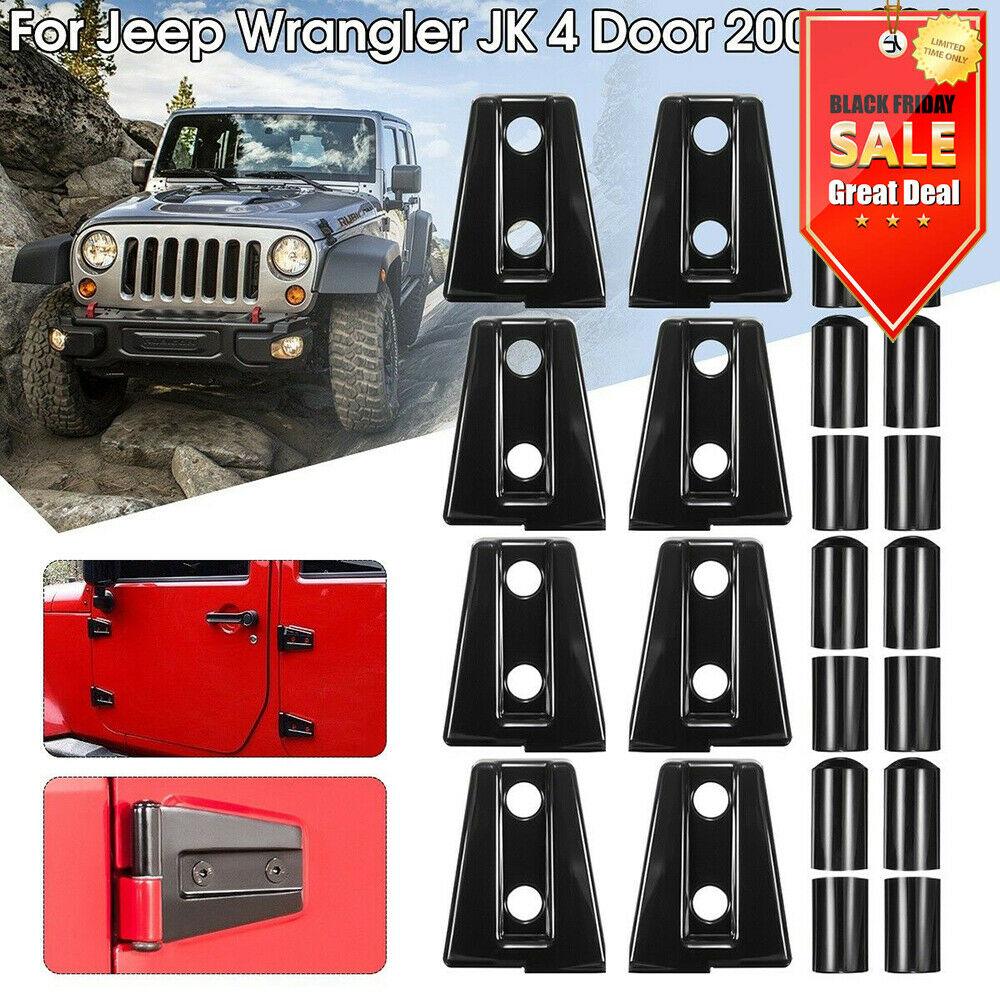 Black Door Hinge Cover For 2007 2017 Jeep Wrangler Jk Jku Unlimited Accessories 1 Of 9only Available See More