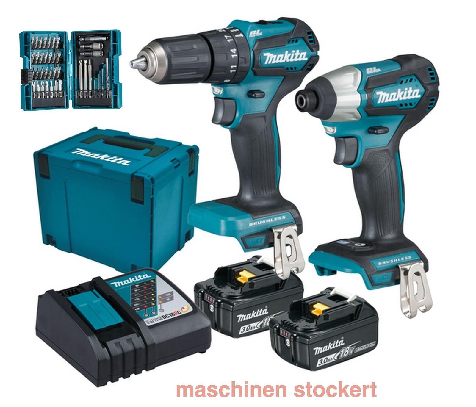 makita dlx2221jx2 akku schlagbohrschrauber dhp483 dtd155 im set 18v eur 297 99 picclick it. Black Bedroom Furniture Sets. Home Design Ideas