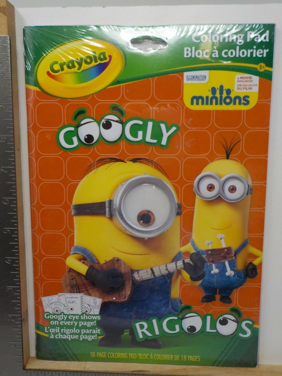 CRAYOLA COLORING PAD Minions Despicable Me 18 Pages Googly Eye Color ...