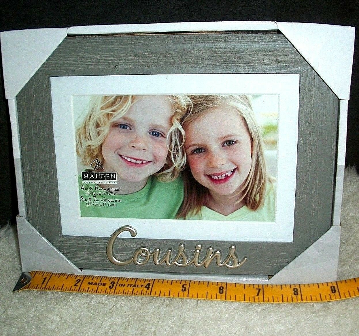 COUSINS PICTURE FRAME 5 x 7 or 4 x 6 Photo Family Reunion Relative ...