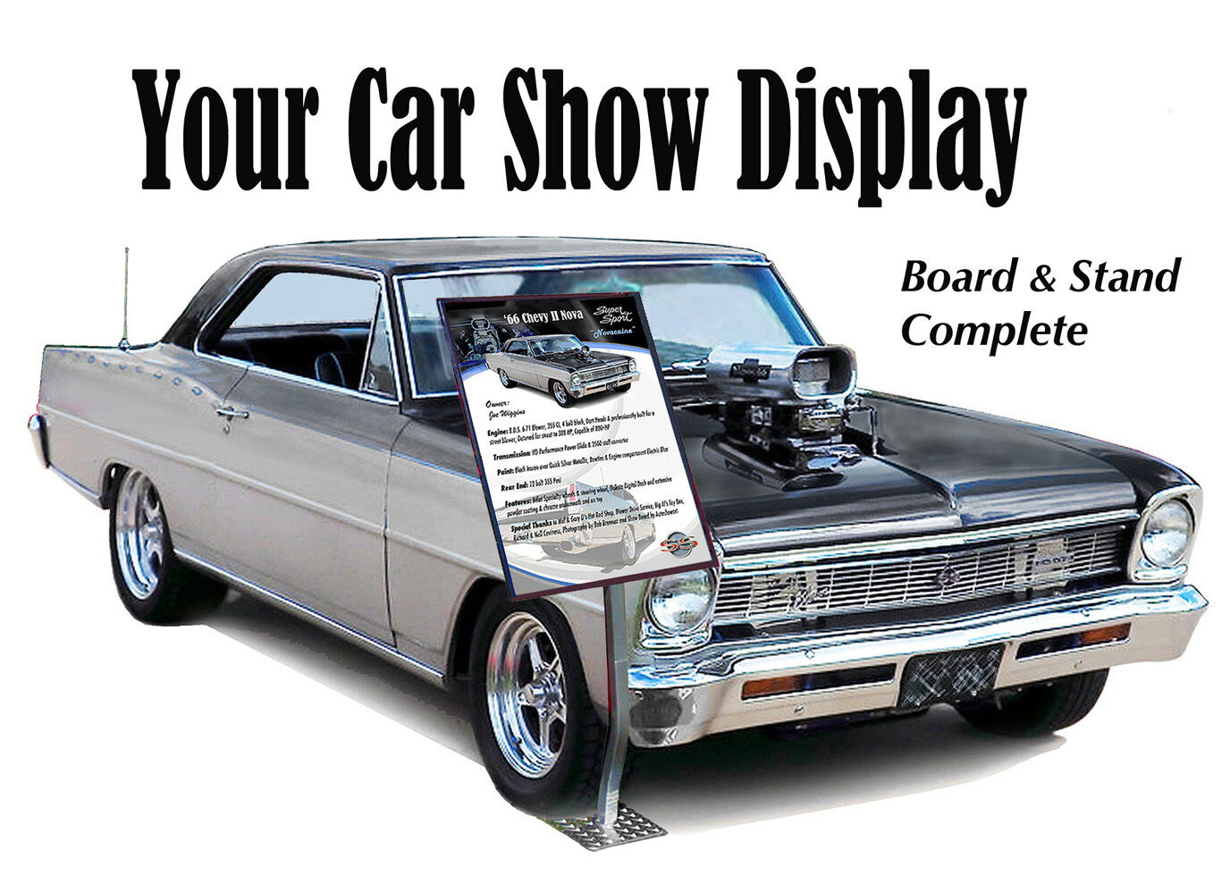 YOUR CAR SHOW DISPLAY Board Stand Complete PicClick - Car show display boards