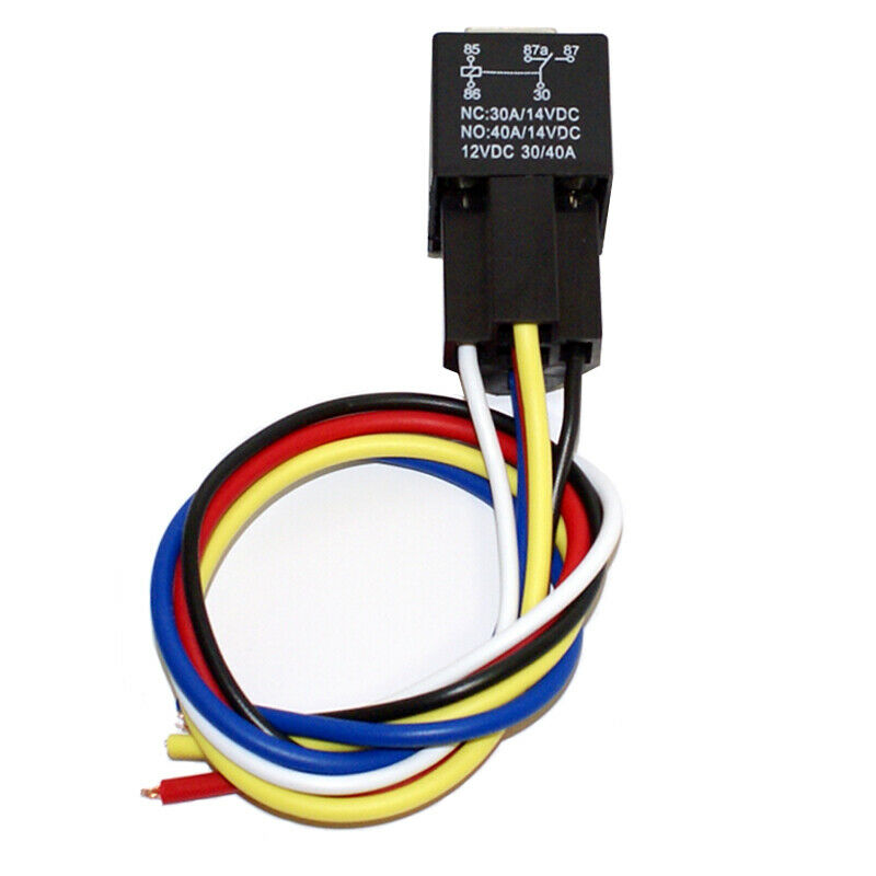 12v 12 Volt 30 40a Spdt 5 Pin Automotive Relay With Wire Socket Dpdt Wiring 1 Of 1free Shipping