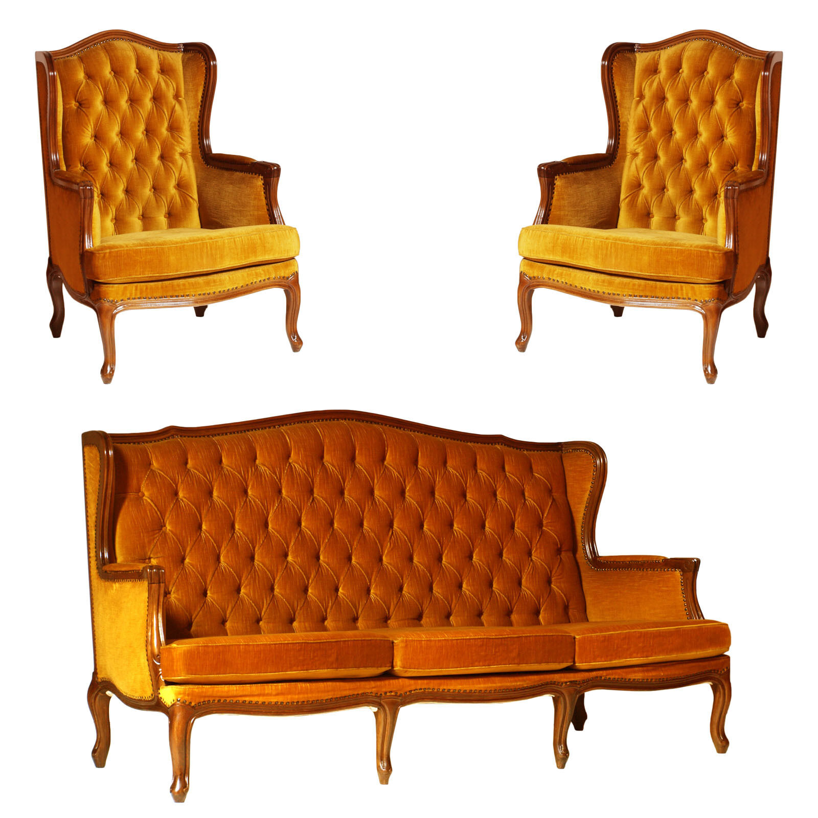 Antique sofa with armchairs bergere divano poltrone - Divano poltrone sofa ...
