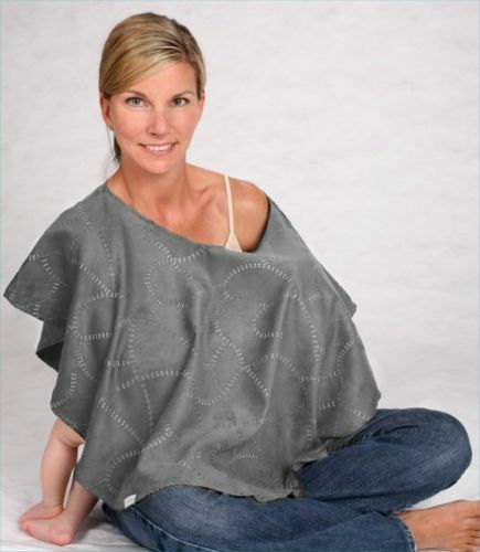 Nursing Ponchos are designed to cover all sides of you while you Breastfeed in public. The design allows you to feel fully covered while nursing your baby.