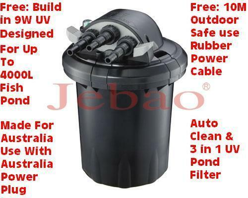 Jebao auto clearn cf 10 9w uv pond filter 2yrs wty for Uv pond filters for sale