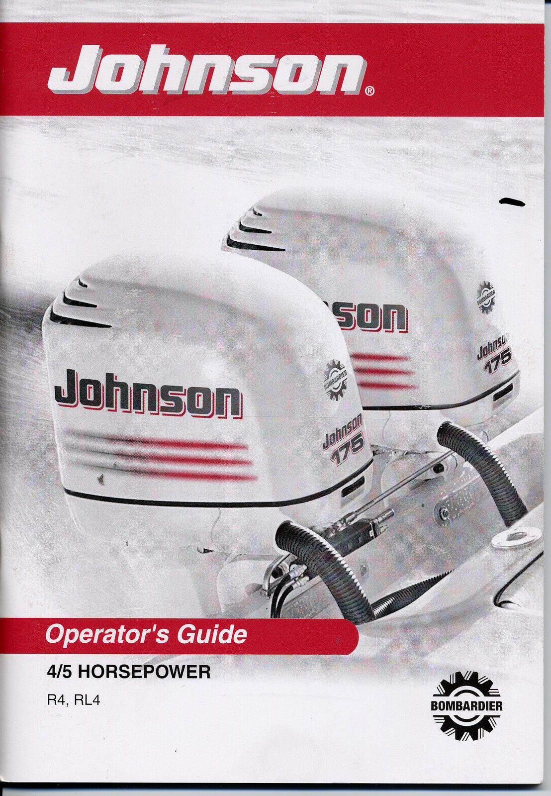 Johnson Outboard Owners Manual 2003 4HP 5HP 4-Stroke Models R4 RL4 1 of  1Only 1 available ...