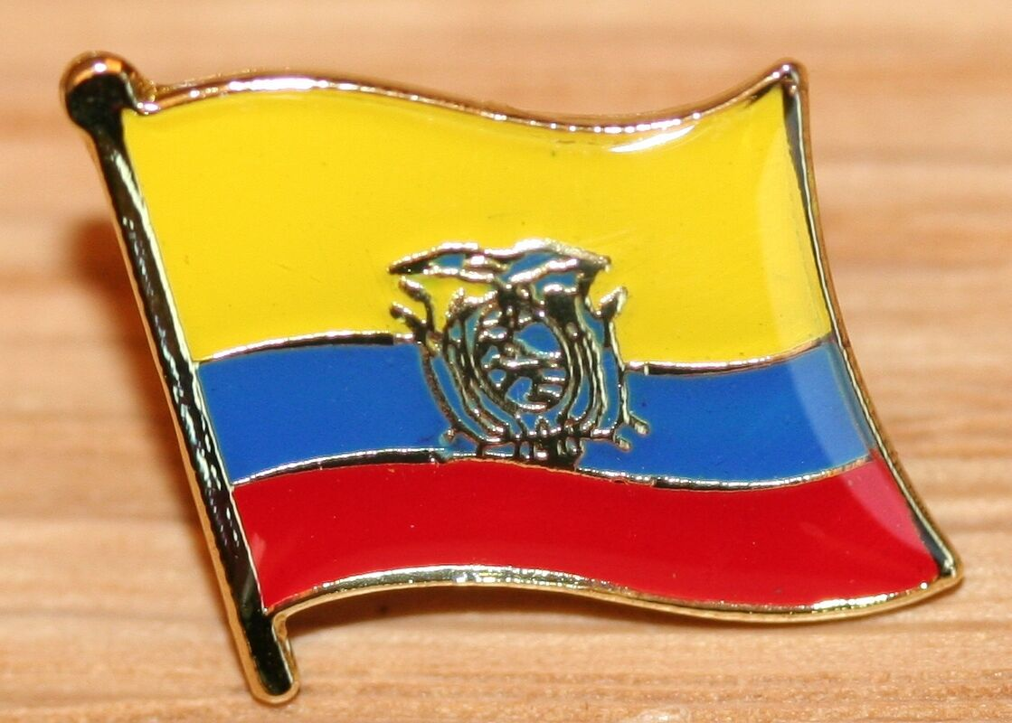 ECUADOR Country Metal Flag Lapel Pin Badge 1 Of 1 See More