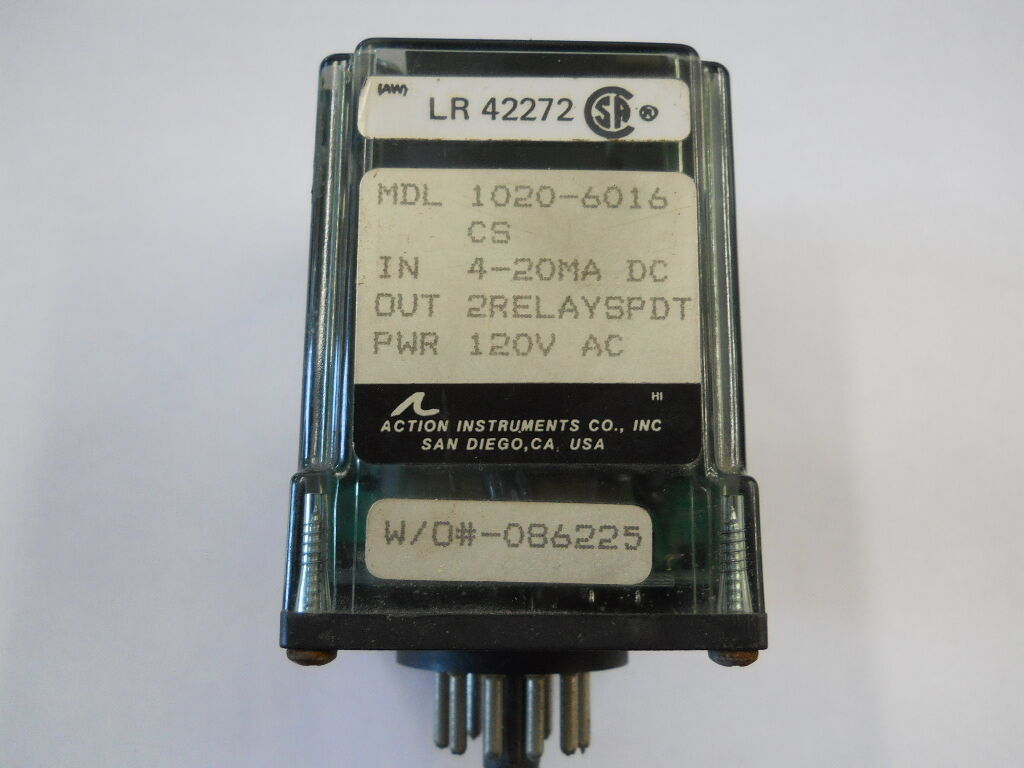 Action Pak 1020 6016 Relay 4000 Picclick Dpdt 110vac 10a 8 Pin Octal Power Circuit Diagram 1 Of 5only 3 Available