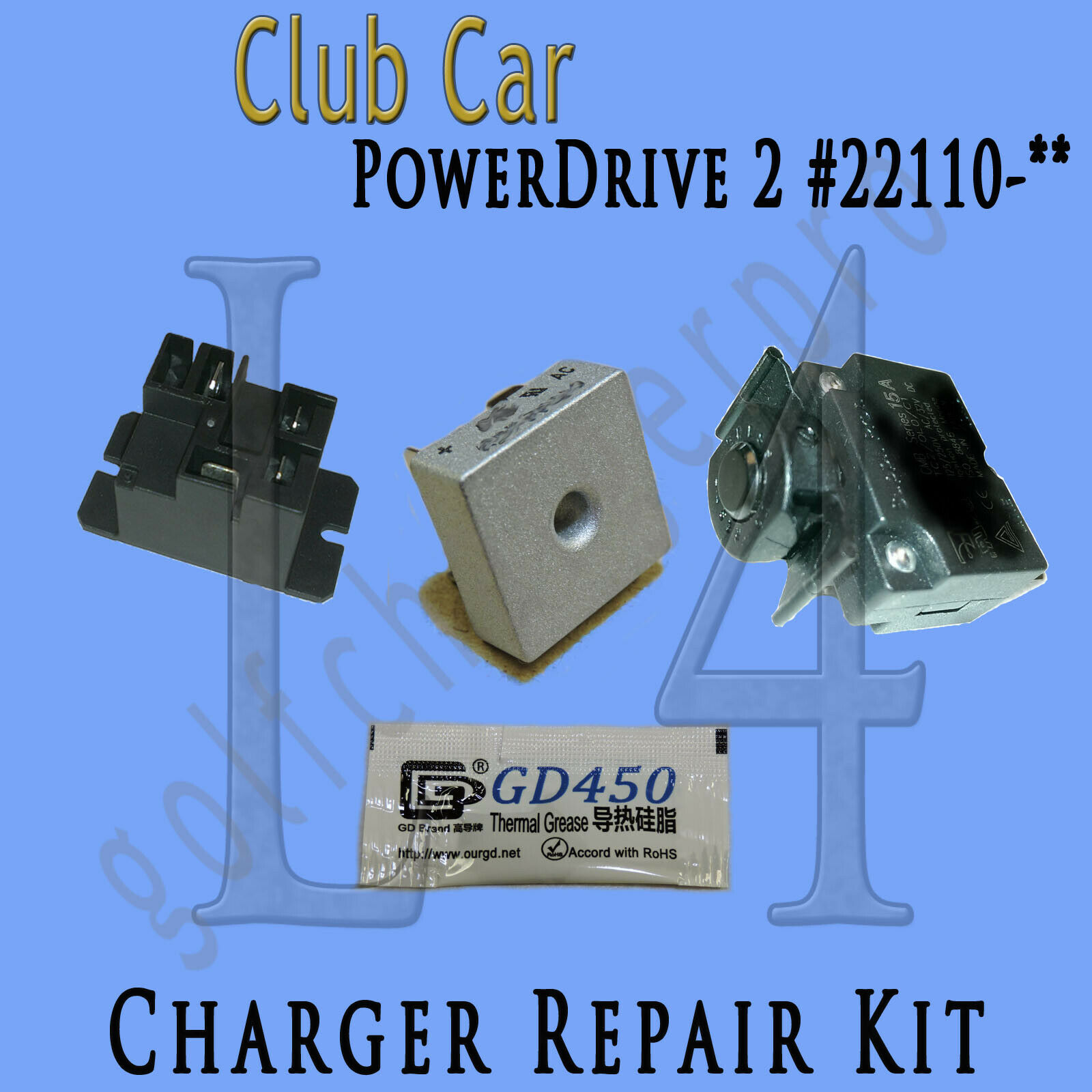 Club Car Powerdrive 2 22110 48 Volt Golf Cart Battery Charger Wiring Diagram 48v W Obc Repair Kit