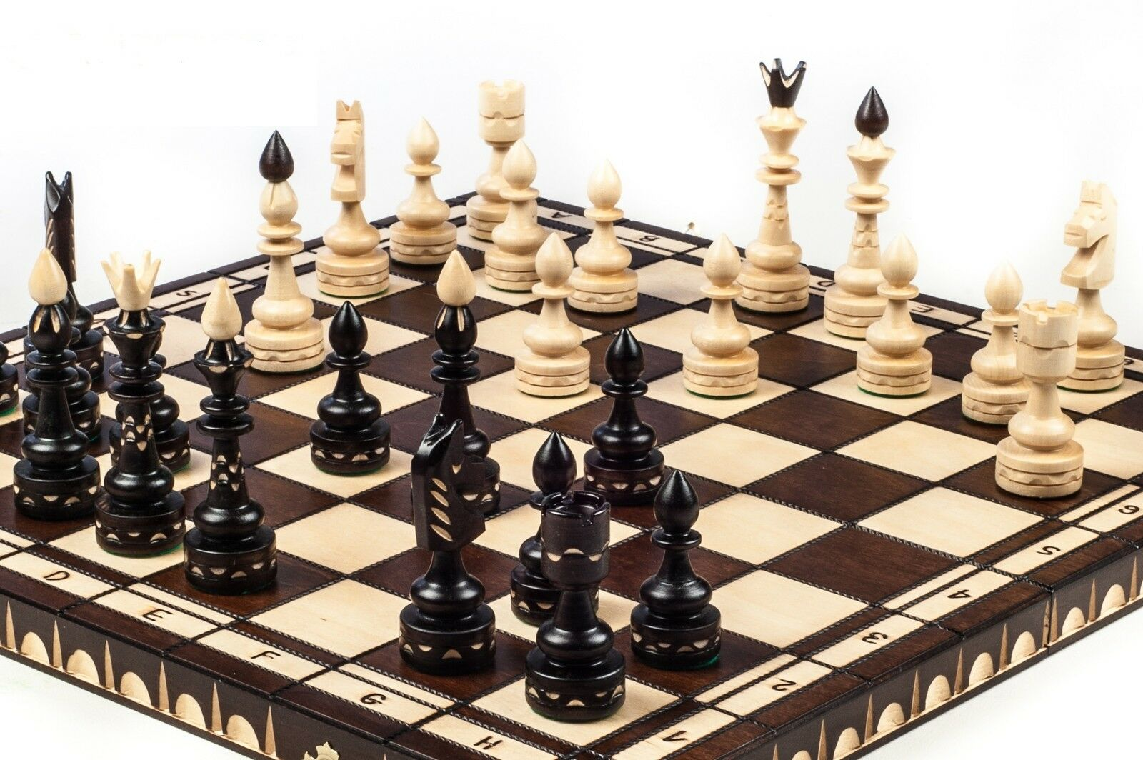 Brand new ♜ luxury hand carved indian wooden chess set