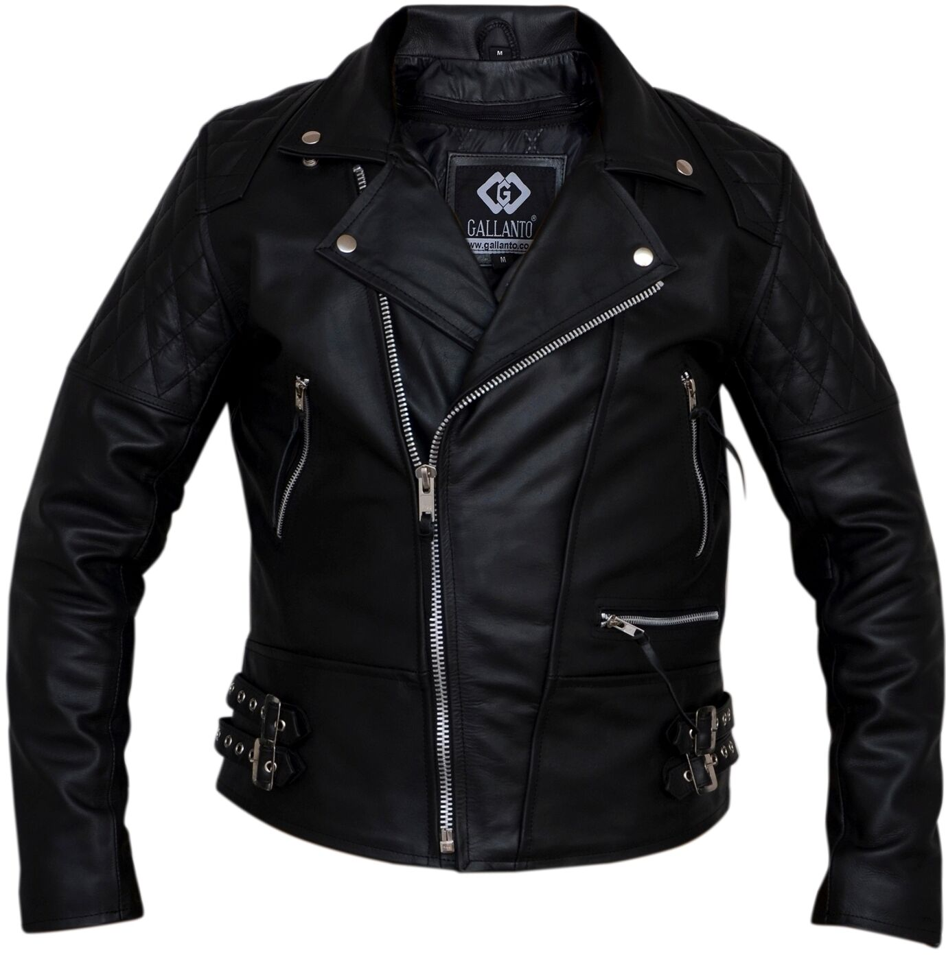 Diamond leather jacket