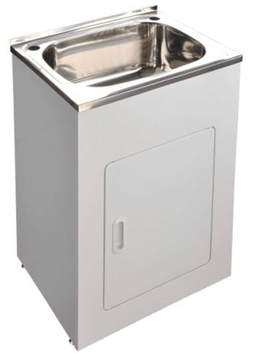 45L stainless steel sink laundry cabinet / trough with adjustable legs ...