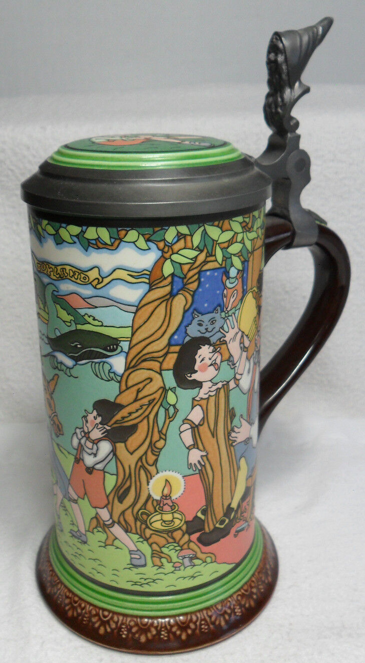 mettlach villeroy boch lidded beer stein pinocchio by c collodi germany picclick. Black Bedroom Furniture Sets. Home Design Ideas