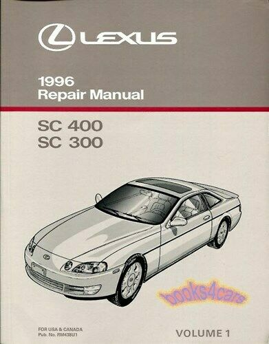 shop manual service repair lexus 1996 sc400 sc300 book factory rh picclick com Used 1997 Lexus SC300 1997 Lexus SC400