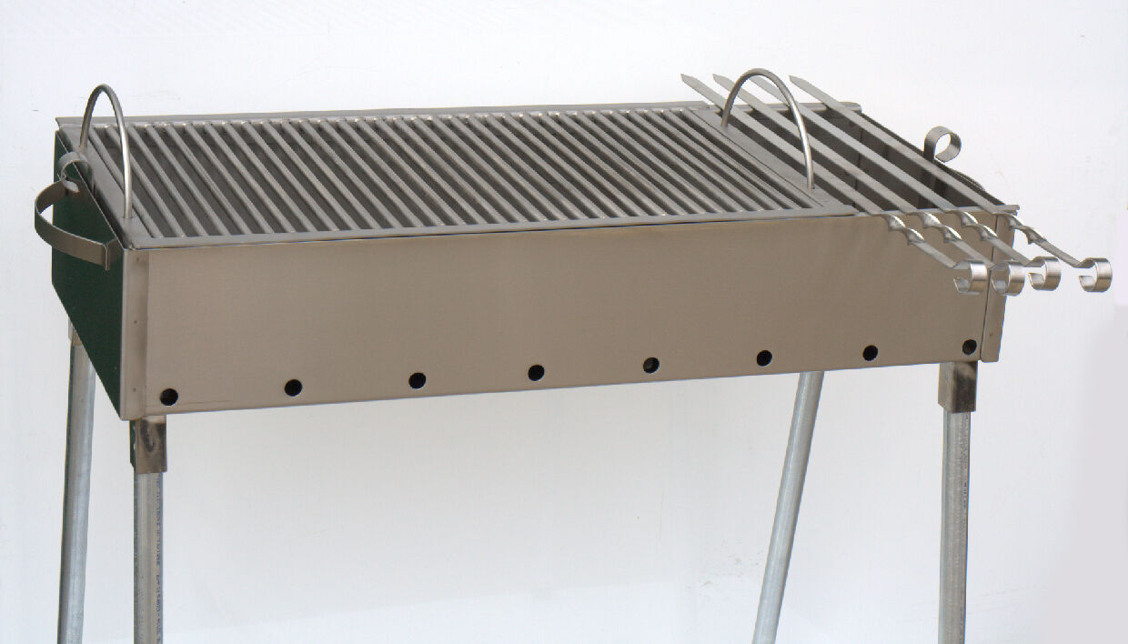 Stainless steel charcoal grill kebab bbq portable 12x30 picclick - Grill for bbq stainless steel ...