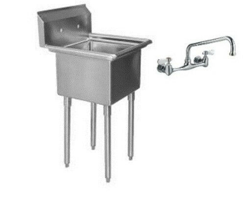 Steel (1) One Compartment Utility Prep Mop Sink 23 X 24 With Faucet. ➤.  Laundry Tub Replacement Legs ...
