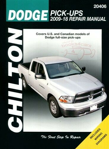 Dodge Ram Shop Service Repair Manual Book Chilton Truck Pickup Haynes 09-12  1 of 1FREE Shipping ...