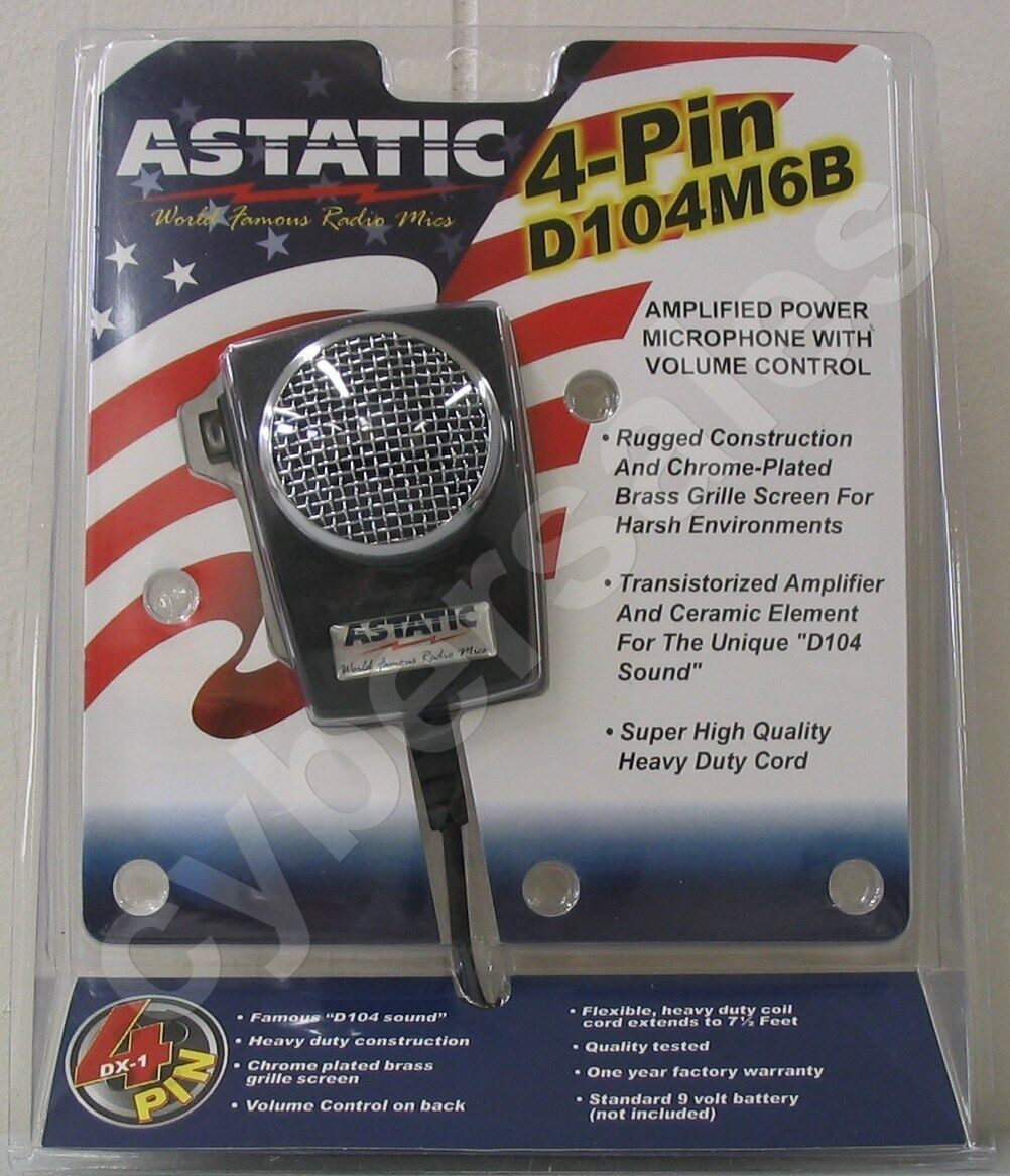 Retail Package Astatic D104 M6b Cb Ham Radio Amplified Power Mic Wiring 1 Of See More