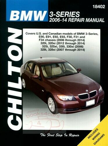 Bmw Shop Manual Service Repair Book Chilton 3 Series E90 E91 E92 E93 Haynes  1 of 1 See More