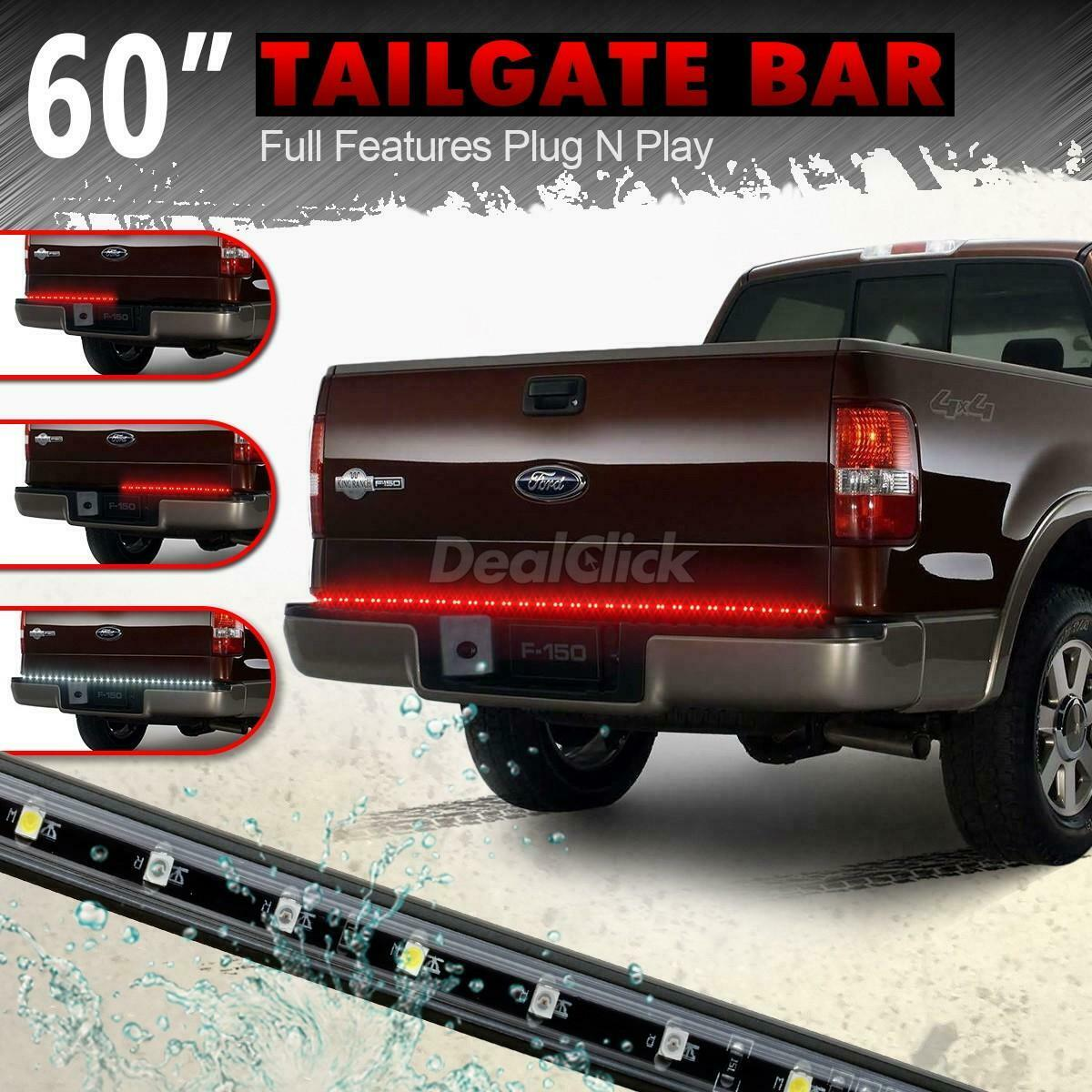 60 truck tailgate light bar led redwhite reverse stop running turn 1 of 9free shipping aloadofball Image collections