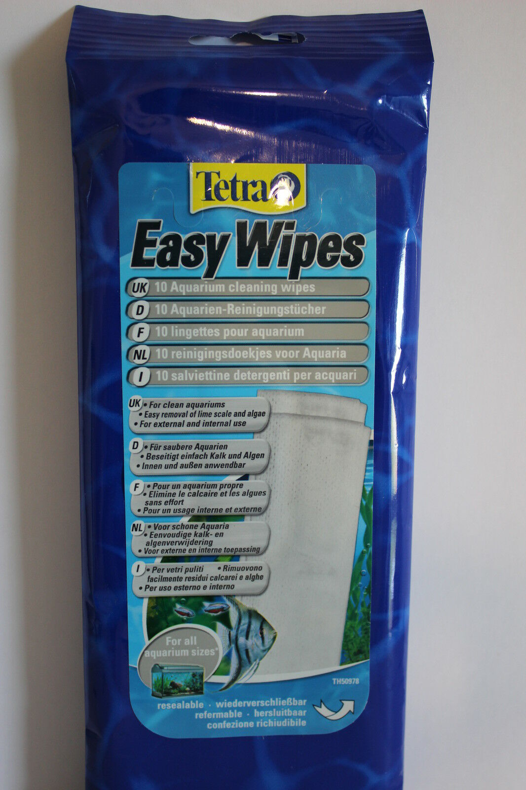 Tetra Easywipes 10 Pk Tropical Marine Fish Tank Aquarium Cleaning  Wipe
