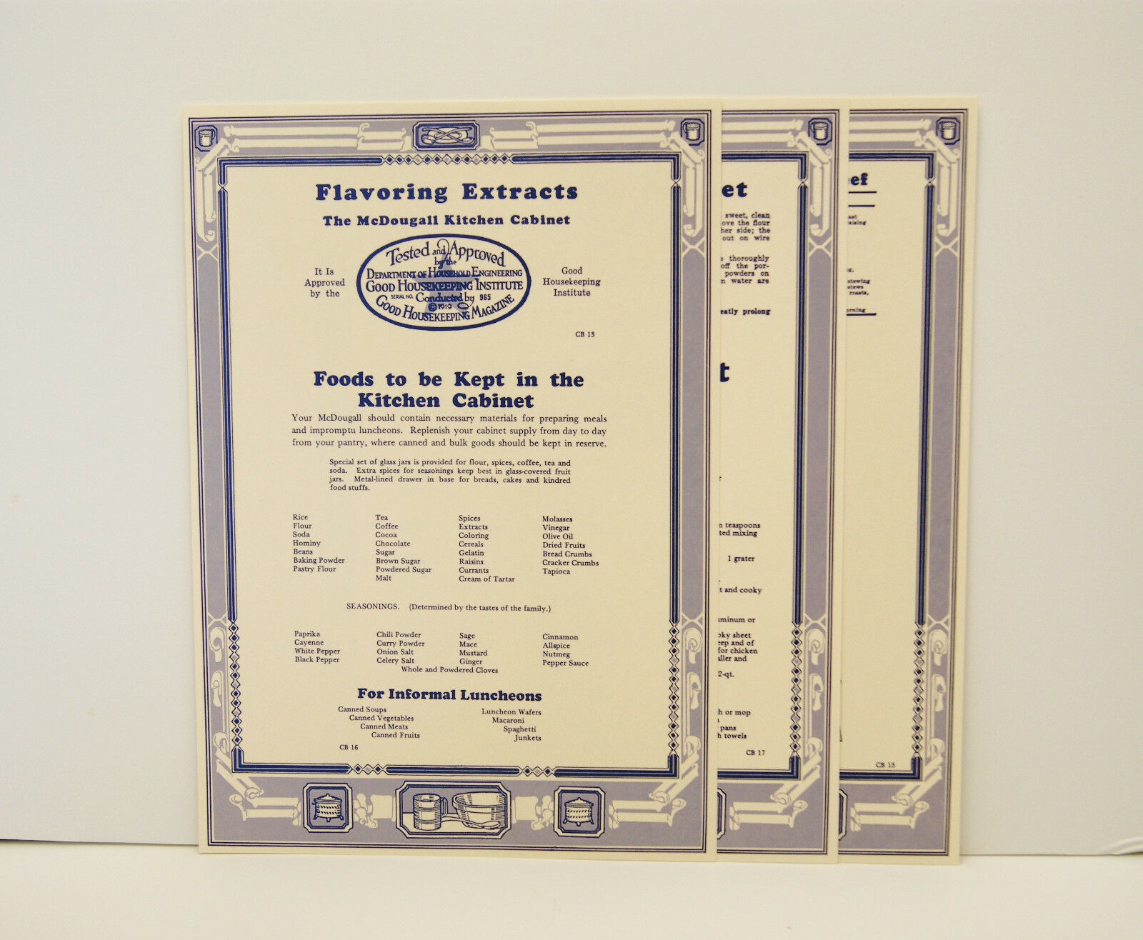 McDougal  Cabinet Door Chart Set