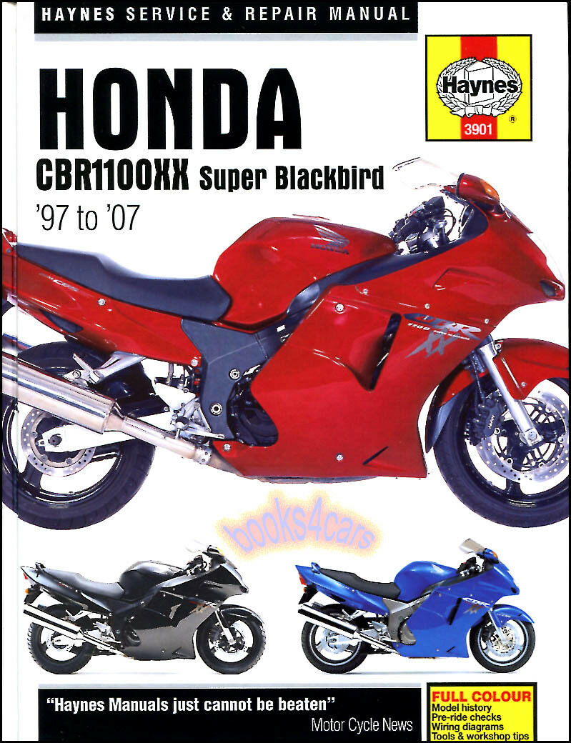Shop Manual Cbr1100Xx Service Repair Honda Haynes Super Blackbird Book  1997-2007 1 of 1FREE Shipping ...