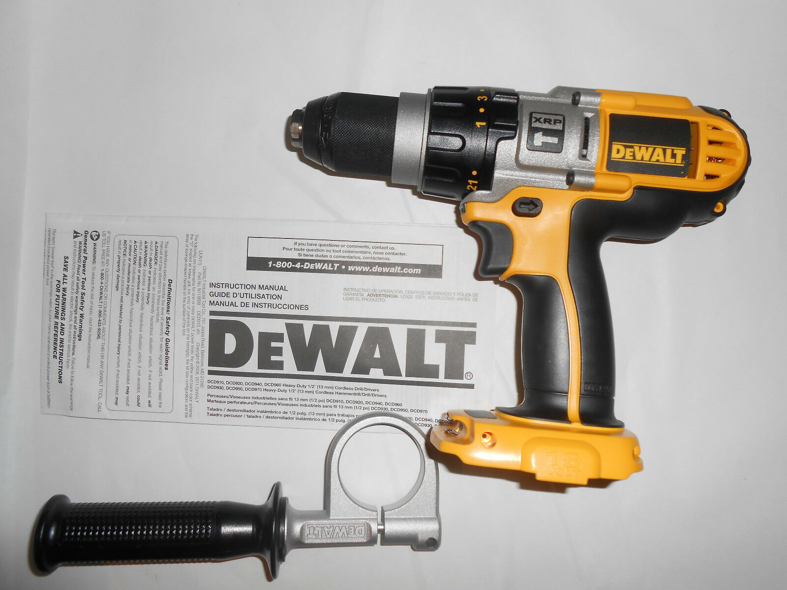 new dewalt dcd950b 18v nicd 1 2 cordless hammer drill picclick. Black Bedroom Furniture Sets. Home Design Ideas