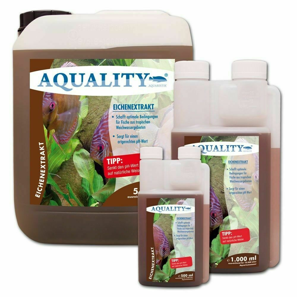 (17,80€/l) AQUALITY Eichenextrakt Aquarium pH Minus senkt den pH Wert. Ab 500ml