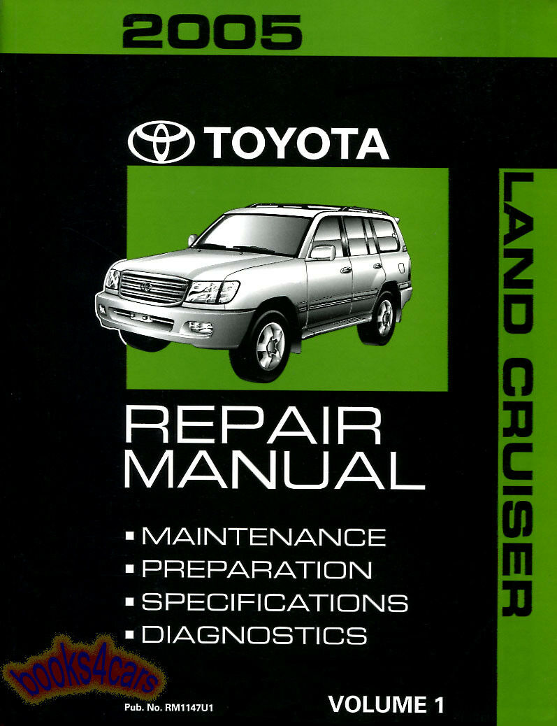 TOYOTA LAND CRUISER 2005 SHOP MANUAL SERVICE REPAIR BOOK LANDCRUISER 4x4  GUIDE 1 of 1Only 3 available ...